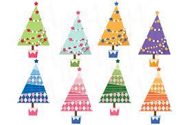 christmas tree clip art illustrations creative market