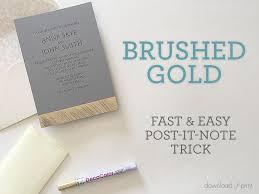 diy wedding invites brushed gold diy wedding invitation free printable
