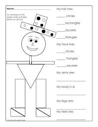 3d shapes worksheets worksheet kindergarten match 2d koogra