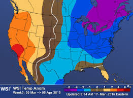 us weather map for april u s sub seasonal temperature forecast through mid april
