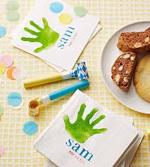 handprint birthday napkins
