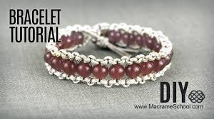 bracelet with beads images Diy easy macram boho bracelet with beads and button clasp jpg