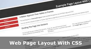 website layout using div and css web page layout with css no tables or frames