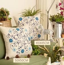 Leather Sofa Seat Cushion Covers by 50cmx50cm 2pcs Lot Rural Orchid Flower Design Handmade Folk Lu