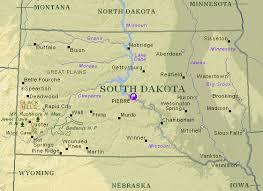 south dakota map with cities dakota