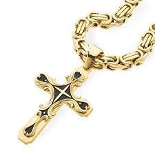 stainless gold necklace images Gold tribal cross pendant spicyice jpg