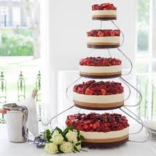 5 tier cake stand 5 tier strawberry celebration cheesecake with cake stand