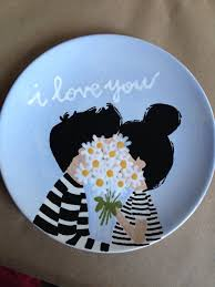 paint pottery ideas drawn ceramic dish pencil and in color drawn ceramic dish free