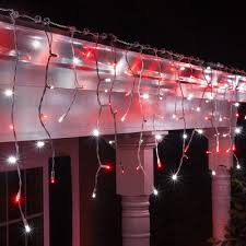 cool white icicle lights red cool white 5mm led icicle lights on white wire wintergreen