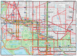 Seattle Map Downtown by Washington Dc Downtown Metrobus Map City Center Painting