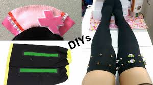 halloween thigh highs 3 cosplay diys diy hatsune miku nurse headband kagamine rin arm