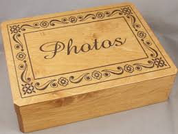 engraved wooden box 9 x 12 x 3