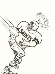new orleans saints coloring page kids coloring
