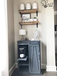 Diy Barn Doors by Diy Barn Door Coffee Cabinet Shanty 2 Chic
