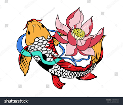 koi fish tattoo japanese style stock vector 578206144 shutterstock