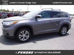 toyota highlander 2015 used toyota highlander awd xle navigation leather