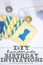 handmade first birthday invitations diy through clouded glass