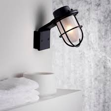 Applique 3 Lumières De Salle Extérieure Moderne Pour Salle De Bain Marina H14 Cm Ip44 Noir