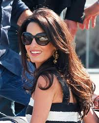 is amal clooney hair one length long celebrity hairstyles amal clooney celebrity and hair style