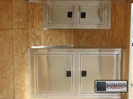 v nose enclosed trailer cabinets brilliant cabinet options archives american trailer pros cargo