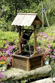 Water Fountain For Backyard - amazon com wishing well wood outdoor patio water fountain with