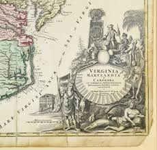 Map Og Lot 267 Johann Baptist Homann Map Of Virginia Maryland And