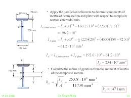 cross sectional moment of inertia 8 0 second moment or moment of inertia of an area ppt video