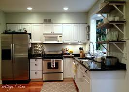 concrete countertops soffit above kitchen cabinets lighting