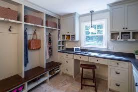 Built In Bench Mudroom Shiplap Mudroom Ideas Transitional Laundry Room