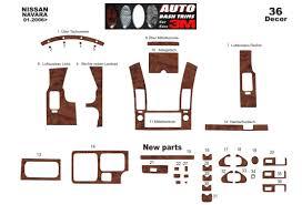 Navara D40 Interior Navara D40 02 06 12 10 Interior Dashboard Trim Kit Dashtrim 12 Parts