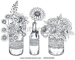 Vase Of Flowers Drawing Flower Bouquet Stock Images Royalty Free Images U0026 Vectors