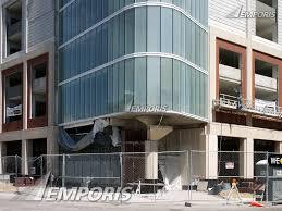 corner of the parking garage base sherman plaza evanston image