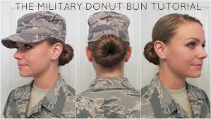 yourube marine corp hair ut military donut bun tutorial youtube