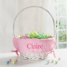 personalized easter basket liners personalized easter basket with pink liner personalized planet