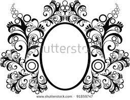 vector decorative frame text ornamental flourish stock vector