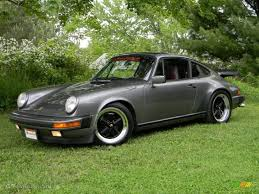 stanced porsche 911 meteor grey metallic 1986 porsche 911 carrera coupe exterior photo