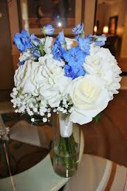 rockwall wedding chapel white and blue larkspur bridal bouquet by rockwall wedding