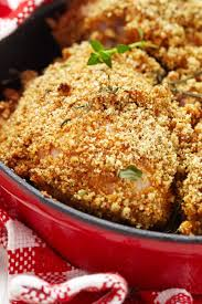 baked parmesan ranch chicken thighs kitchme