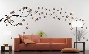 Captivating Living Room Wall Decals Ideas  Wall Decals Amazon - Interior wall painting design ideas