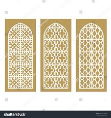traditional arabic window door pattern vector stock vector