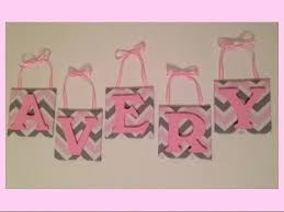 diy nursery wall letters pink and grey chevron youtube