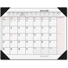 at a glance sk1170 00 2 color print recycled desk pad julian