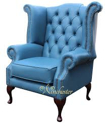 Queen Anne Wingback Chair Leather Chesterfield Queen Anne High Back Wing Chair Soft Vele Cambridge