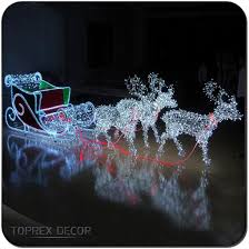 lights reindeer and sleigh large outdoor reindeer