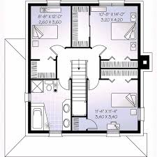 colonial style house plan 3 beds 2 00 baths 1560 sq ft plan 23 267