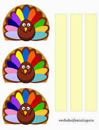 turkey napkin place card printable everyday