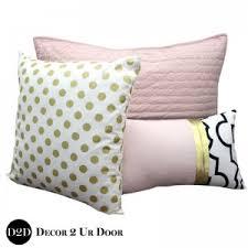 White And Gold Bedding Sets Blush Pink White A Pop Of Black Designer Dorm Bedding Set