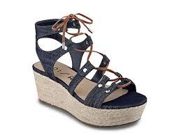 unisa brilee wedge sandal navy denim women authentic 381245 404