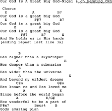 christian childrens song our god is a great big god nigel jo
