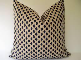 navy dots pillow indigo blue animal spots ikat dot pillow zoom